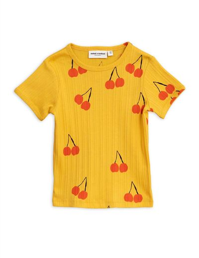 Mini Rodini - Cherry ss tee, yellow