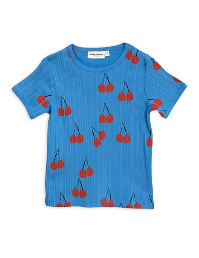 Mini Rodini - Cherry ss tee, Blue