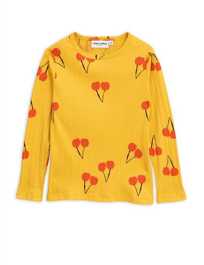 Mini Rodini - Cherry ls tee, yellow
