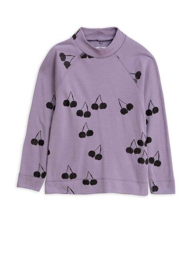 Mini Rodini - Cherry wool ls tee, Purple