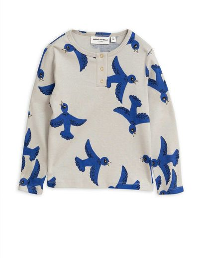 Mini Rodini - Flying birds grandpa, Light grey