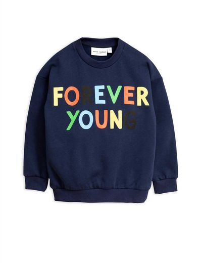 Mini Rodini - Forever young sp sweatshirt, Navy