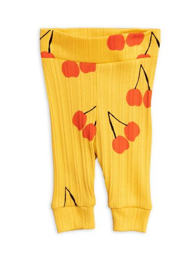 Mini Rodini - Cherry nb leggings, yellow