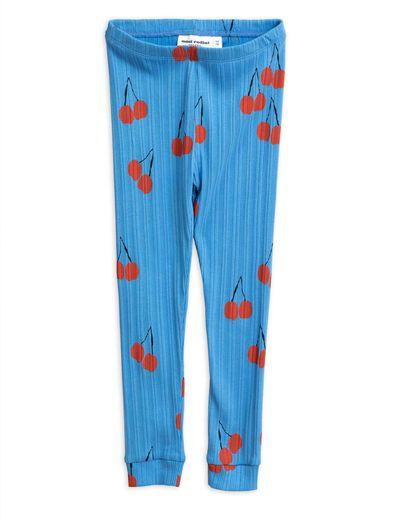 Mini Rodini - Cherry leggings, Blue