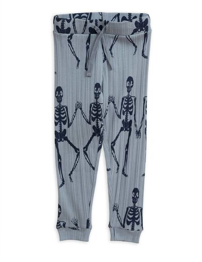 Mini Rodini - Skeleton aop trousers,  Blue