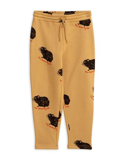 Mini Rodini - Guinea pig sweatpants, Beige