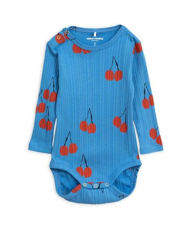 Mini Rodini - Cherry ls body, Blue
