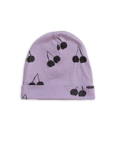 Mini Rodini - Cherry wool beanie, Purple