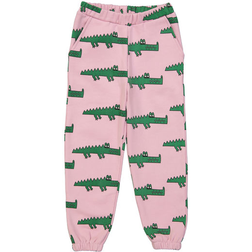 Hugo loves Tiki - 80s sweat pants pink crocodile, pink