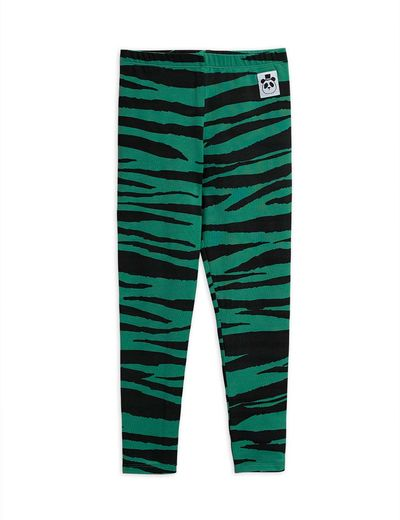 Mini Rodini - Tiger leggings, Green