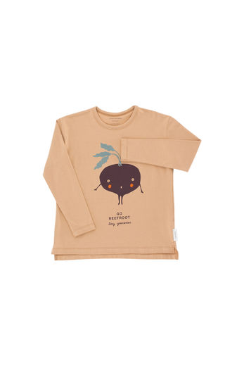 Tinycottons - Go beetroot graphic tee, dark nude/plum