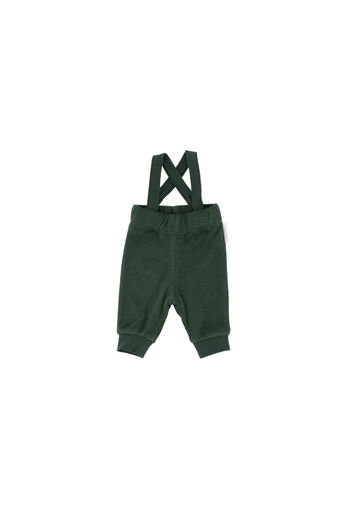 Tinycottons - Solid towel braces pant, dark green