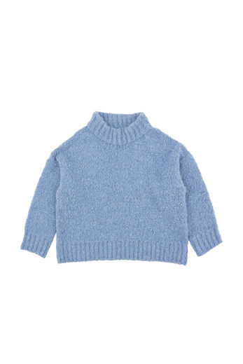 Tinycottons - Fluffy mock sweater, blue