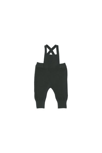 Tinycottons - solid baby dungarees, dark green