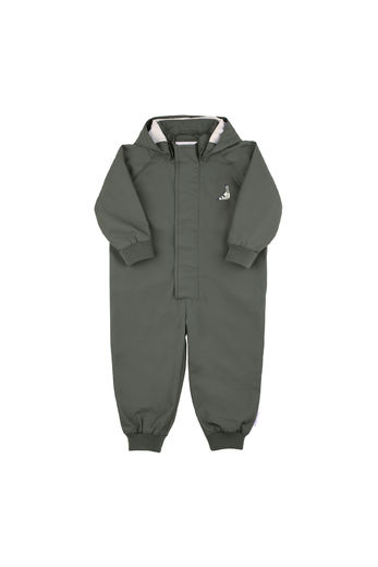 "Tinycottons - ""pigeon"" solid one-piece, dark green"