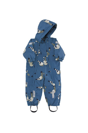 "Tinycottons - ""pigeons"" snow one-piece, light navy/light grey"