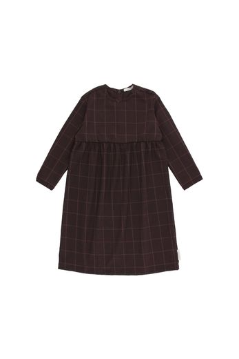 Tinycottons - Grid flannel ls dress, plum
