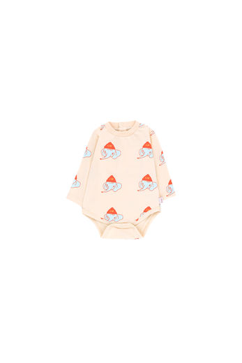 Tinycottons - LUCKYPHANT LS BODY, light cream / light mint