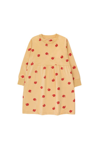 Tinycottons - APPLES DRESS, sand/burgundy