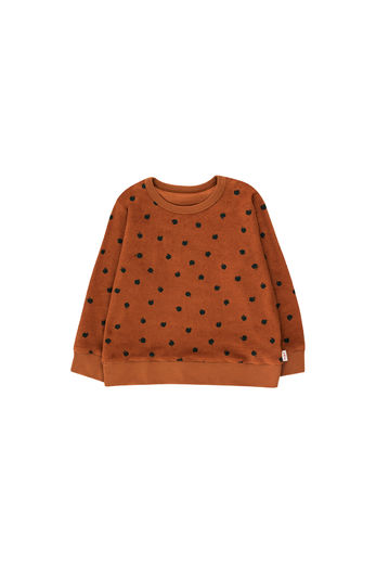 Tinycottons - SMALL APPLES SWEATSHIRT, brown/bottle green