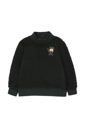 Tinycottons - CAT SWEATSHIRT, black/sand