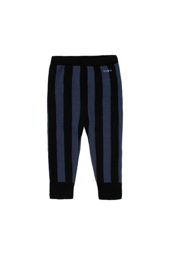 Tinycottons - STRIPES PANT, black / true navy