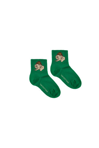 Tinycottons - LUCKYPHANT MEDIUM SOCKS, deep green / sand