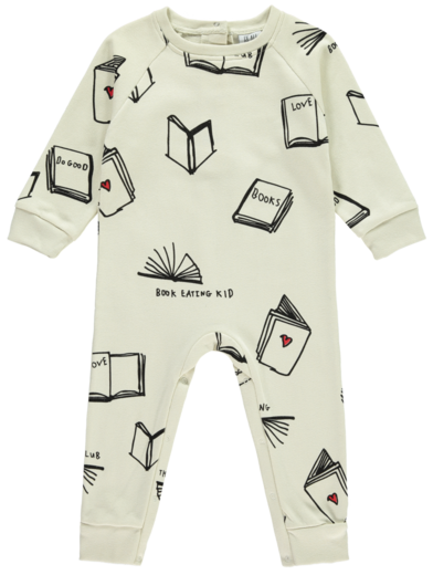 Beau LOves - Raglan romper books, natural