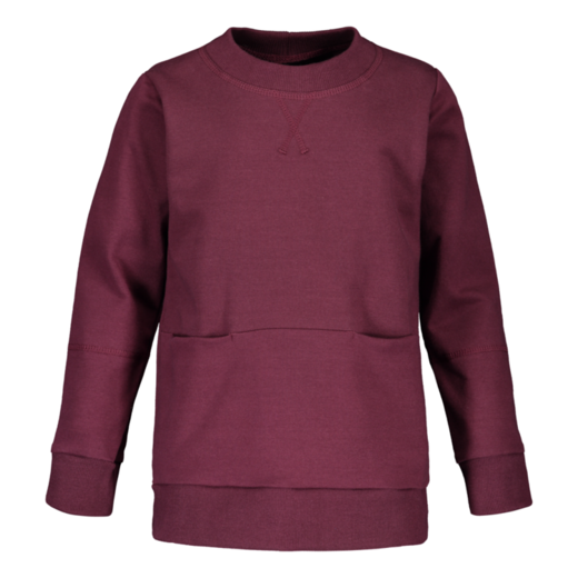 METSOLA - NEW college shirt LS, amaranth