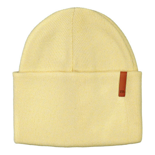 METSOLA - Knitted Beanie Rib Plain, Banana Cream