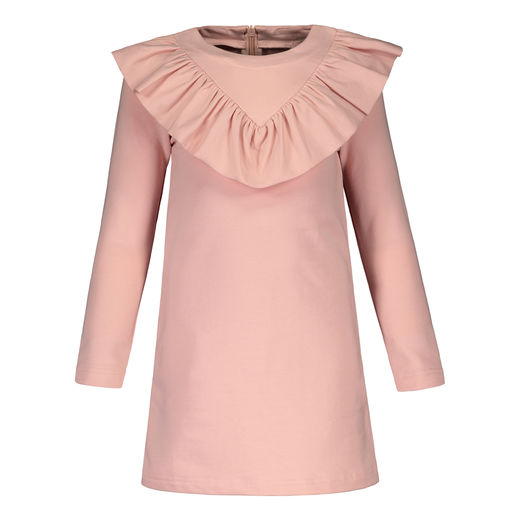 Metsola - V-Frilla dress College, Rose Smoke