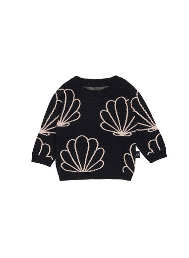 Huxbaby - Shell Knit Jumper, Black
