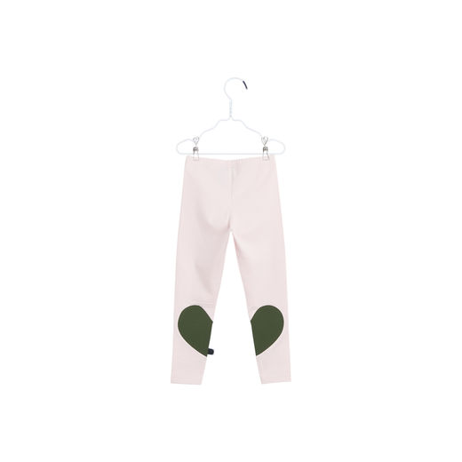 Papu - HEART LEGGINGS, Heather pink / Ever green