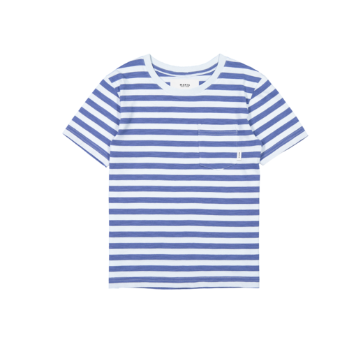 Makia - Verkstad T-Shirt, Blue / Light blue