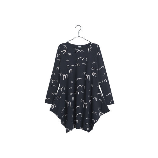 Papu - KANTO DRESS BIRDIE - Black / White sand