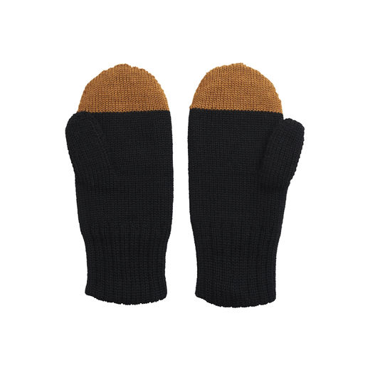 Papu - KIVI MITTEN Kid, Black / Monkey brown