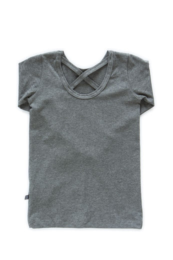 Kaiko - Cross shirt LS, Dark Grey Mel.