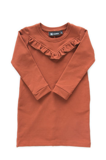 Kaiko - Ruffle dress, Rust