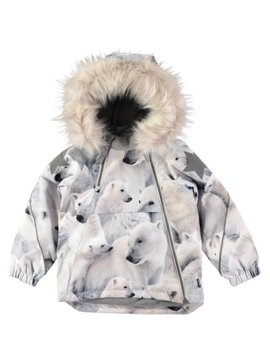 Molo kids - Hopla Fur jacket, Polar Bear