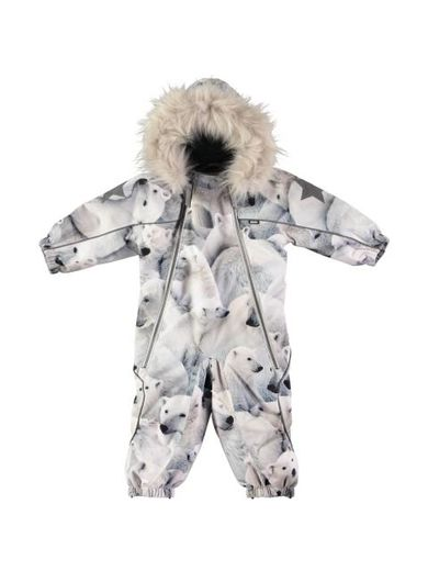 Molo Kids - Pyxis Fur overall, Polar Bear