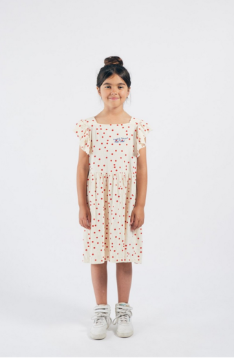 Bobo Choses - Dots Jersey Ruffle Dress 12001118