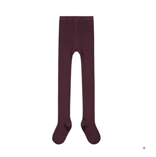 GRAY LABEL - Ribbed Tights, Plum