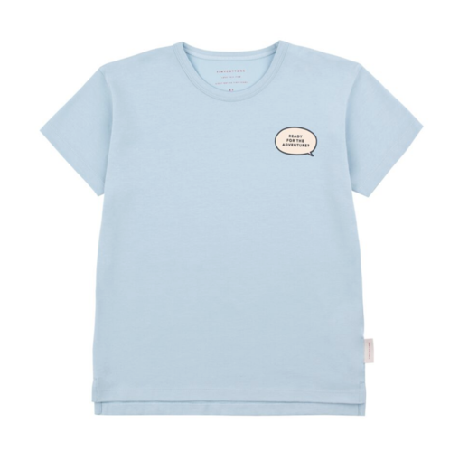 Tinycottons - ADVENTURE SS TEE - Mild blue / Cream