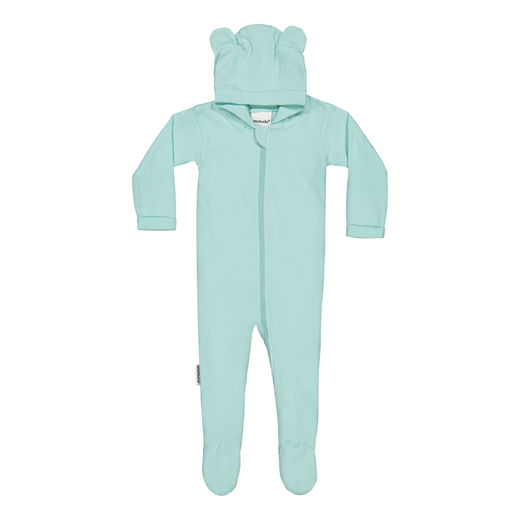 METSOLA - RIB tricot playsuit w. hoodie and ears, Canala