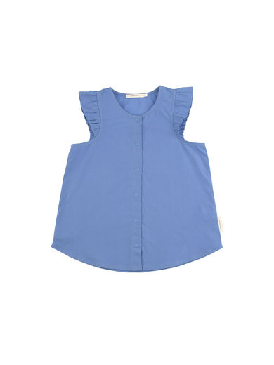 Tinycottons - Solid tank blouse, cerulean blue