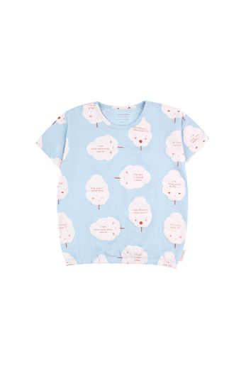 Tinycottons - CANDY FLOSS SS TEE, Mild blue / Pearl