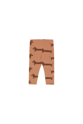 Tinycottons - IL BASSOTTO PANT, tan/dark brown