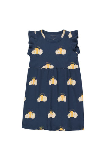 Tinycottons - SLEEPY SUN DRESS, light navy/yellow