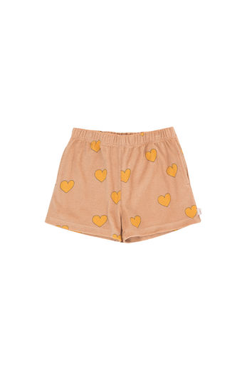 Tinycottons - HEARTS SHORT, light nude/yellow