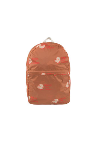 "Tinycottons - ""DOGS"" BACKPACK, cinnamon/light cream"